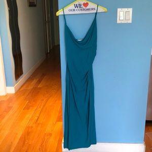 Diane von Furstenberg teal dress size 4